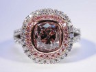 2.02 Ct. Pink Cushion Ring