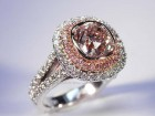 2.02 Ct. Pink Cushion Ring - Photo #2